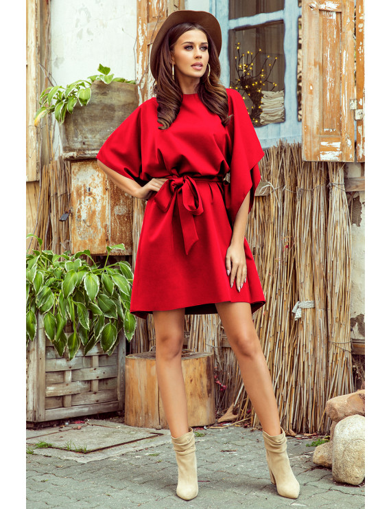 Dámske elegantné šaty červenej farby