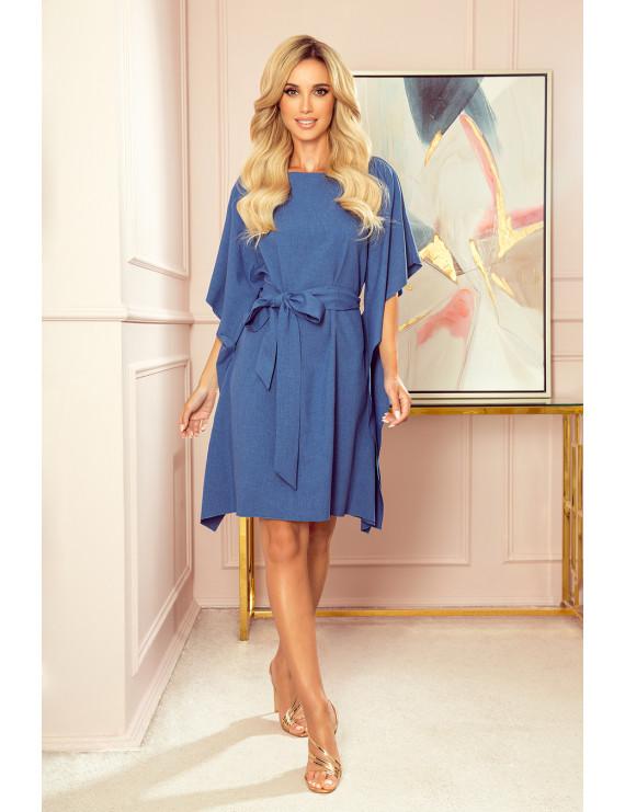 Dámske elegantné šaty modrá