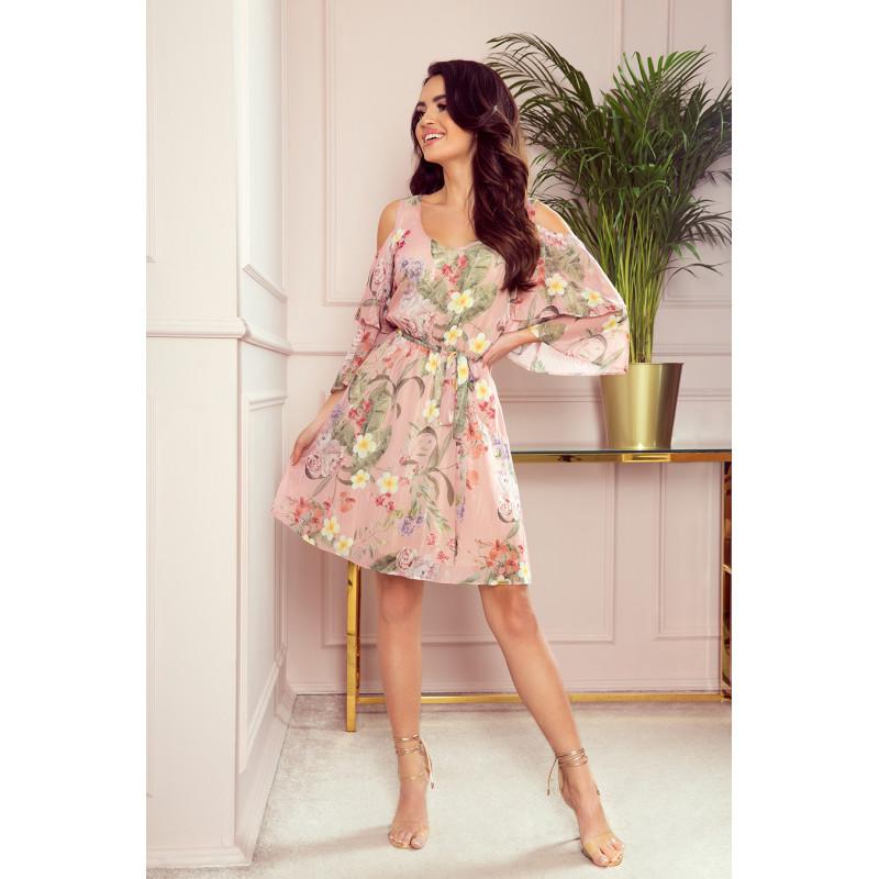 Dámske elegantné šaty ružová pastelová