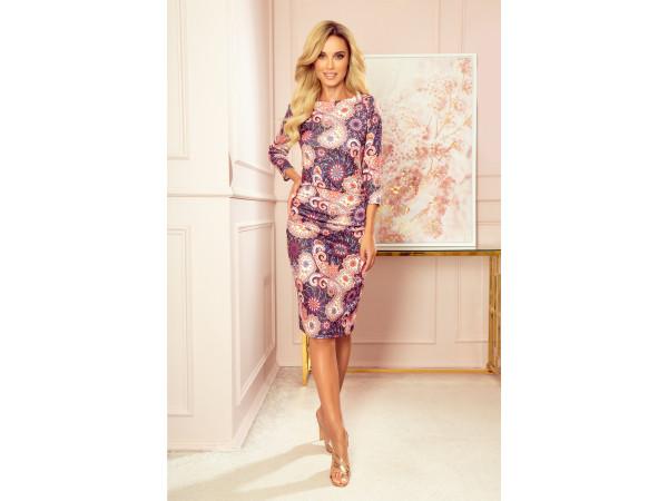 Dámske úpletové šaty ružové
