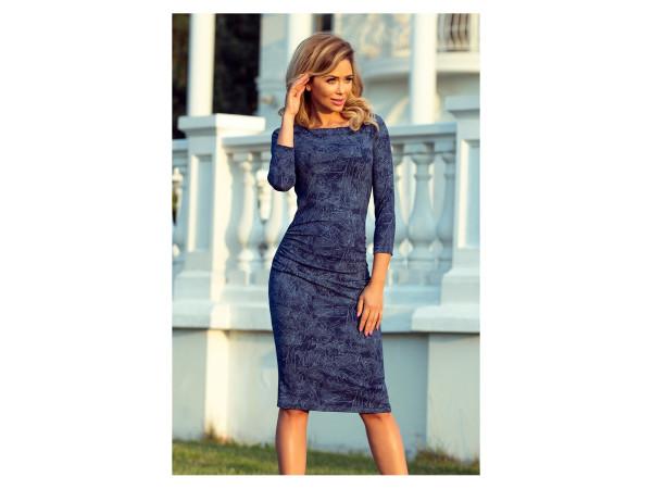 Dámske úpletové šaty modré