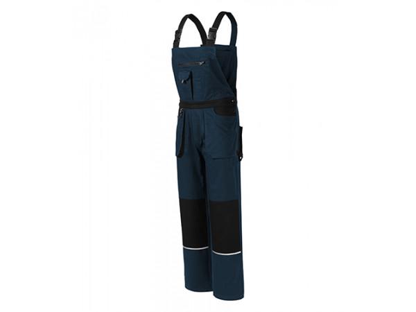 Pánske pracovné nohavice s laclom WOODY tmavomodrá